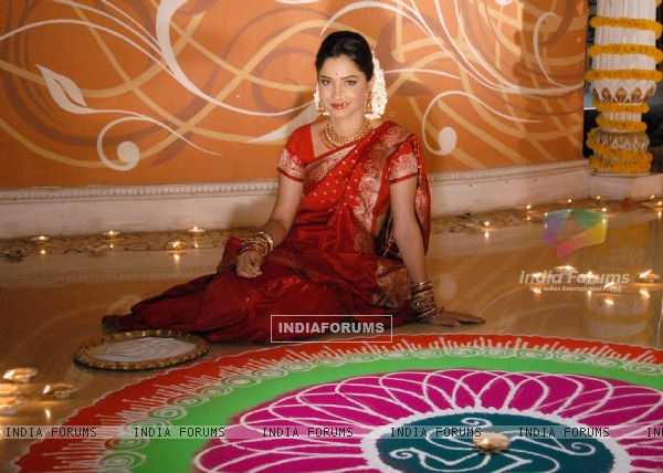 Ankita Lokhande celebrating Zee TV's Diwali