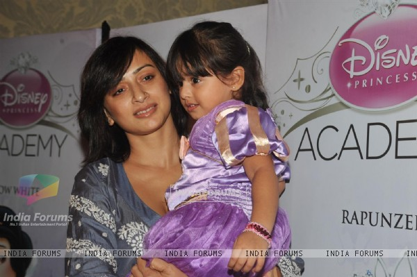 Gauri Pradhan with her daughter Katya at the launch of Disney Princess Academy