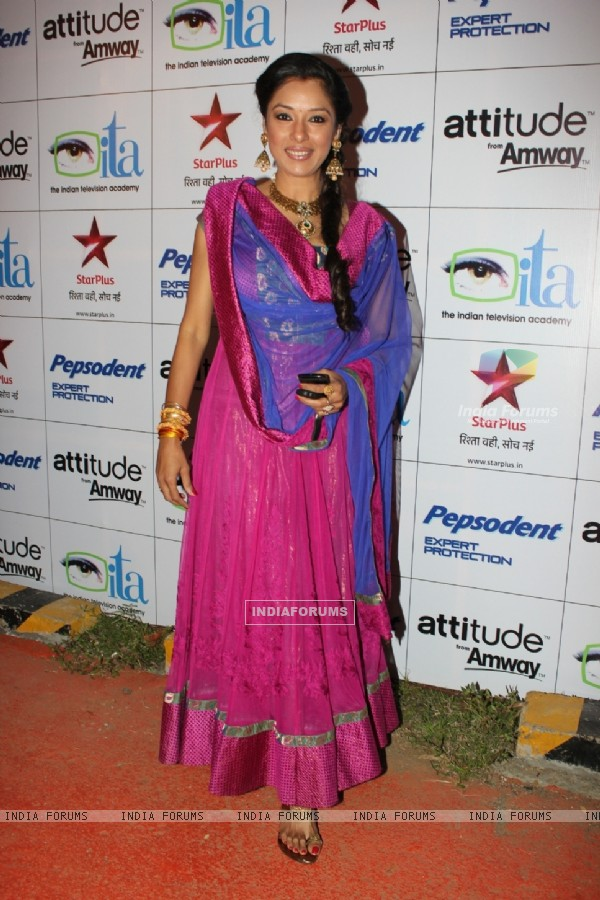 Rupali Ganguly at ITA Awards 2012