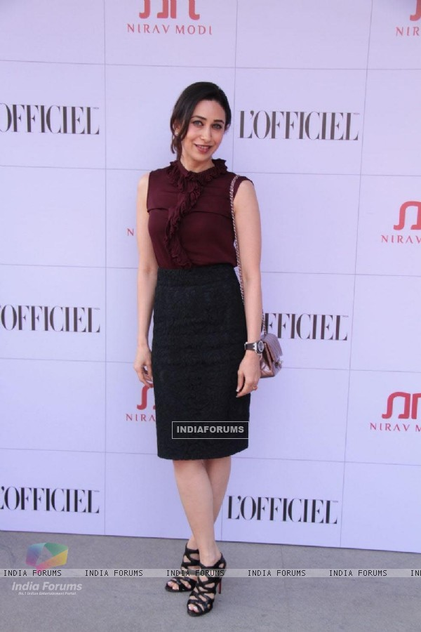 Bollywood actress Karisma Kapoor at Nirav Modi's jewels event at Kamala Mills Compound in Mumbai.