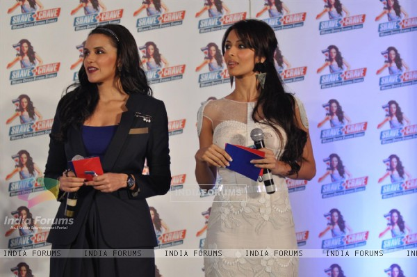 Neha Dhupia and Malaika Arora Khan at Gillette 'Shave or Crave' event