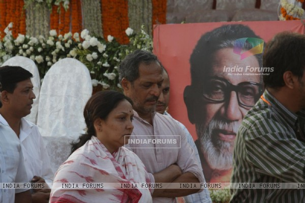 Nana Patekar at Funeral of Shiv Sena Supremo Balasaheb Thackeray