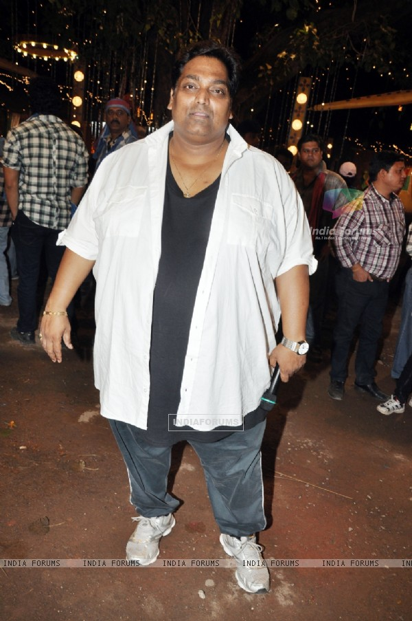 Ganesh Acharya at First item song shoot of film Soda at Kamalistan studio in Mumbai