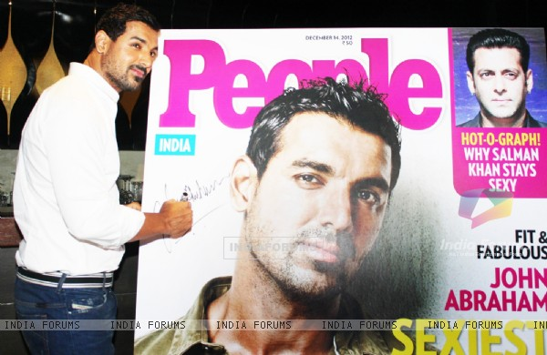 Cover Unveiling of People Magazine by John Abraham