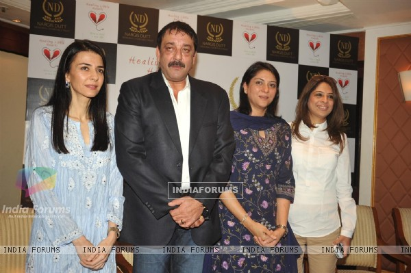 Sanjay Dutt with sisters Namrata Dutt and Priya Dutt attended the Nargis Dutt Memorial Trust