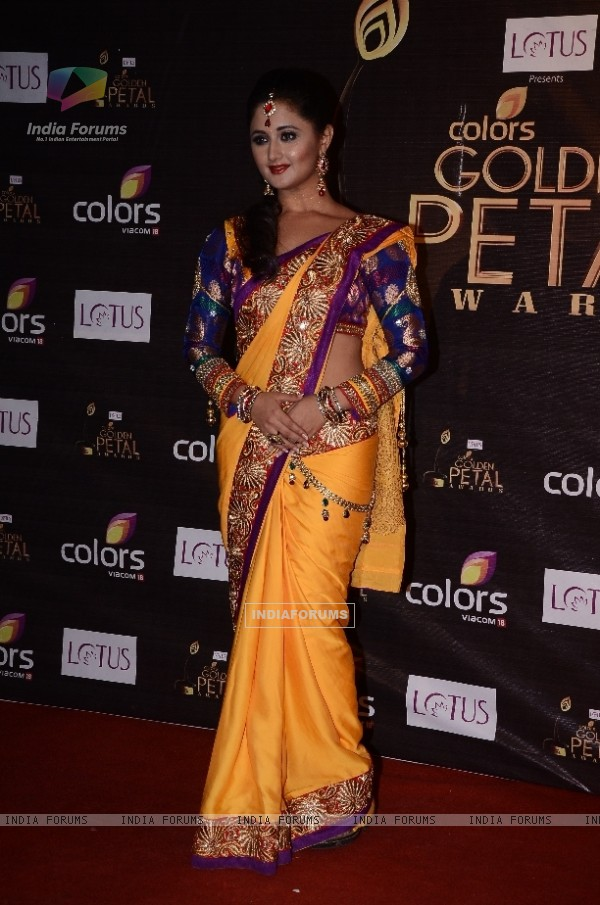 Rashmi Desai Sandhu as Tapasya of Uttaran at Colors Golden Petal Awards Red Carpet Moments