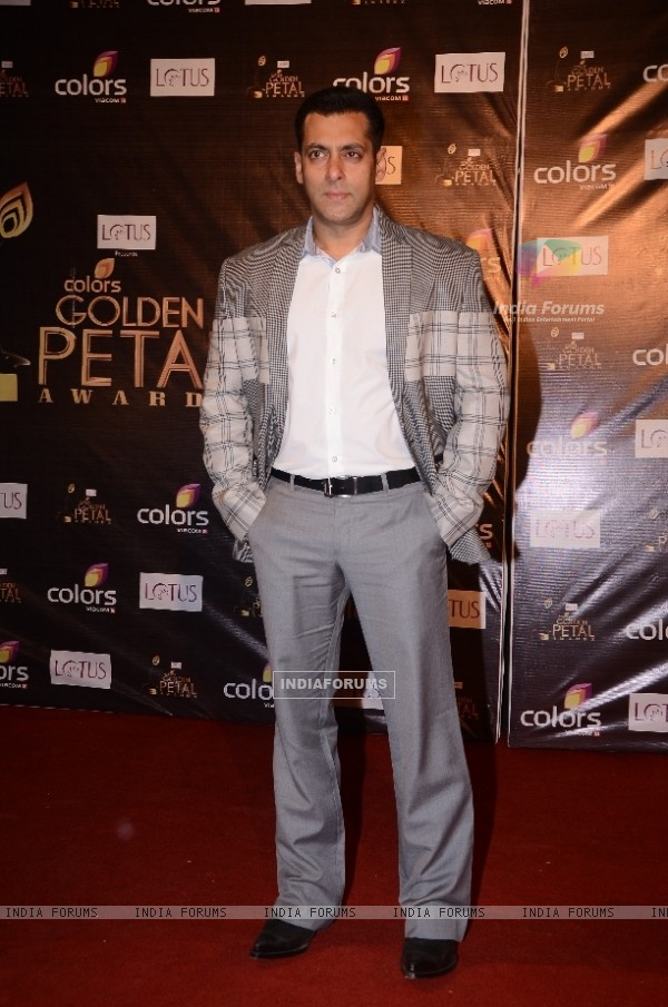 Salman Khan at Colors Golden Petal Awards Red Carpet Moments