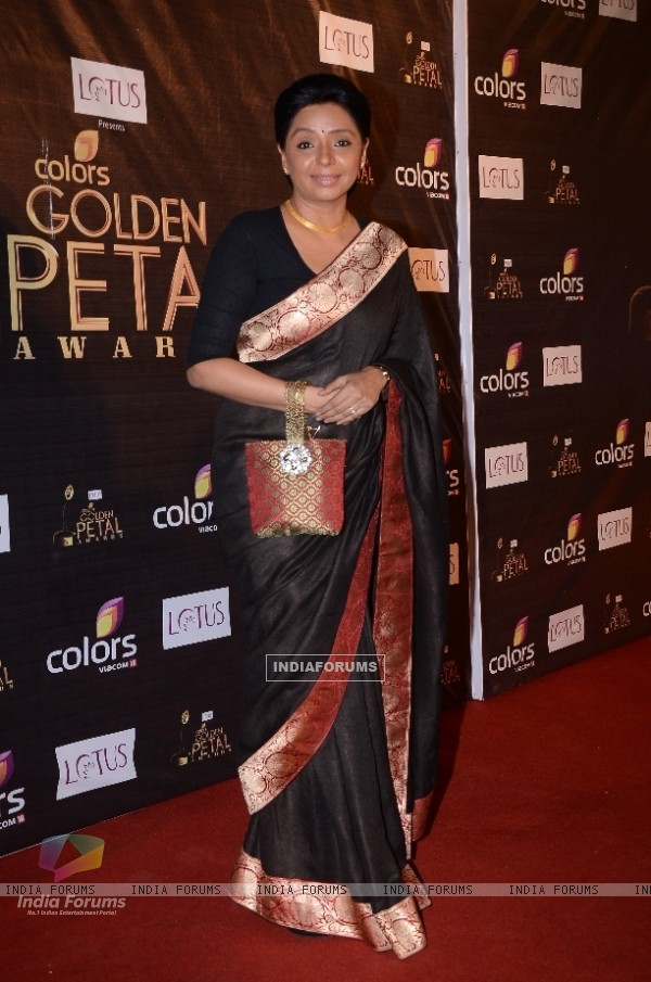 Vaishali Thakkar as Damini of Uttaran at Colors Golden Petal Awards Red Carpet Moments