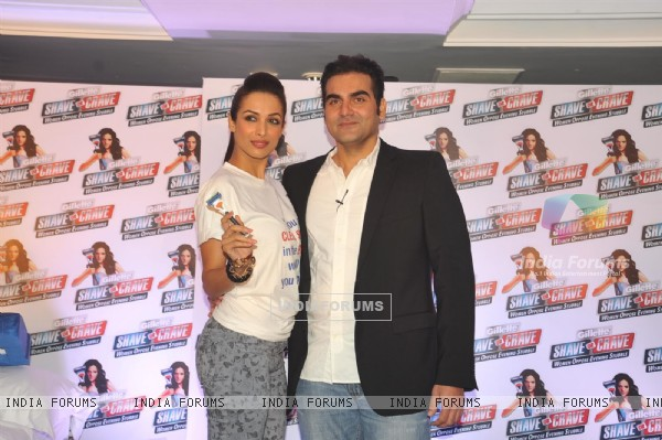 Malaika Arora with husband Arbaaz Khan during an promotional event of Gillette
