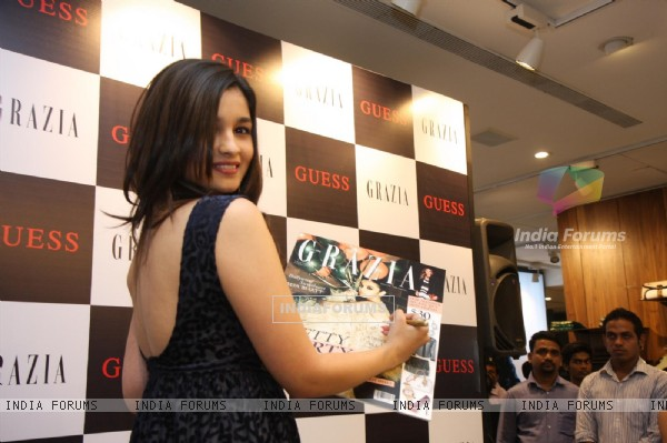 Alia Bhatt launches Grazia Party special issue at GUESS Store in Bandra