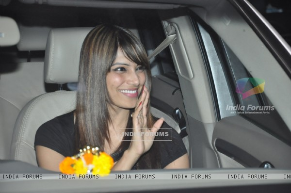 Bipasha Basu during Salman Khan's Birthday Party at his residence Galaxy Apartments