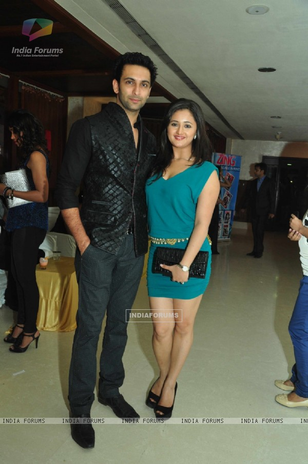 Rashmi with husband Nandish Sandhu at the celebration of India Forums 9th Anniversary
