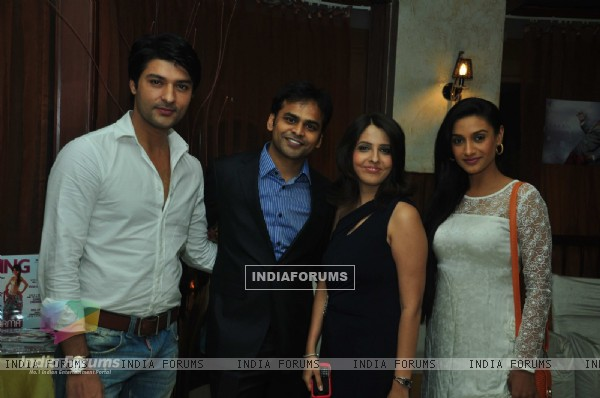 Anas Rashid, Vijay, Dolly & Rati Pandey at the celebration of India Forums 9th Anniversary