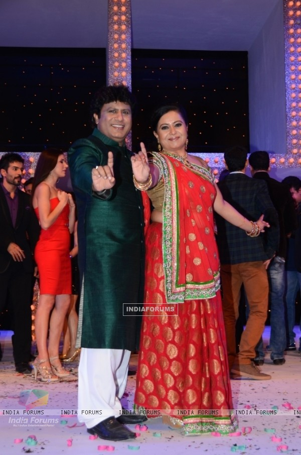 Neelu Vaghela with husband Arvind Kumar in Nach Baliye 5