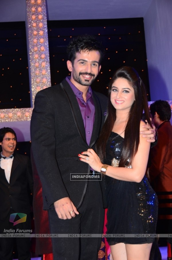 Jay Bhanushali and Mahhi Vij at Nach Baliye 5