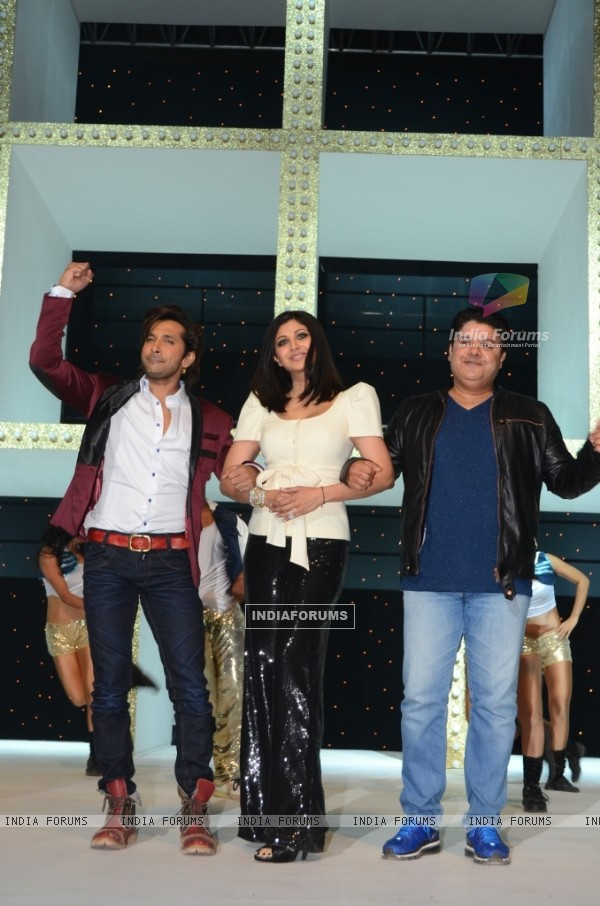 Terence Lewis, Shilpa Shetty and Sajid Khan as the judges of Nach Baliye 5