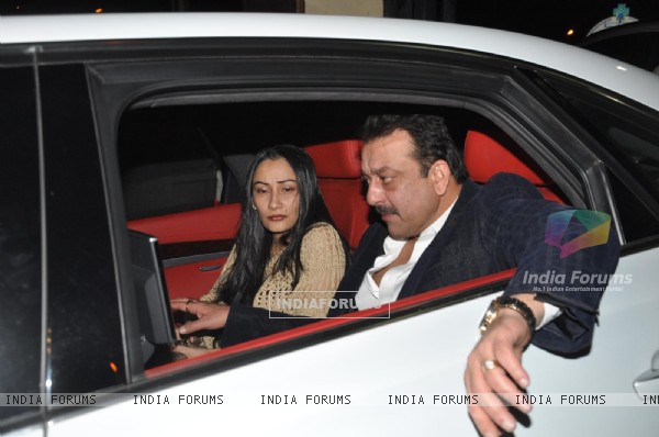 Sanjay Dutt and Manyata Dutt visits David Dhawan at Lilavati Hospital