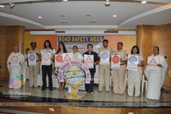Road Safety Campaign Launch by Pooja Bedi at Bramhakumaris Borv east