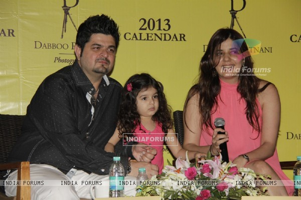 Daboo Ratnani with Manisha Ratnani at Calendar 2013 Announcement Press Meet