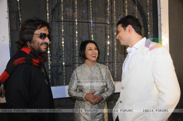 Siddharth Kasyap, Madhushree and Roop Kumar Rathod at the shoot of video album Rock On Hindustan