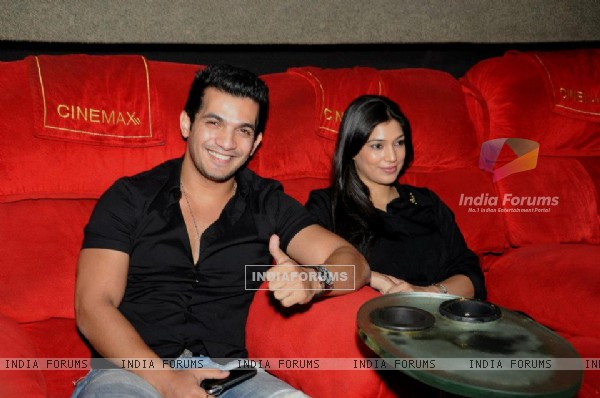 Arjun and Neha at the private screening