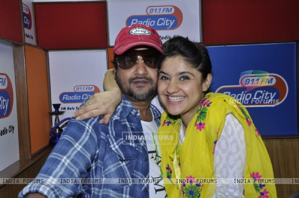 Music director Sajid Ali with RJ Archana at a musical festival 'Musical-E-Azam' season 5 by Radio City 91.1FM in Bandra, Mumbai on Wednesday, January 30th, evening.