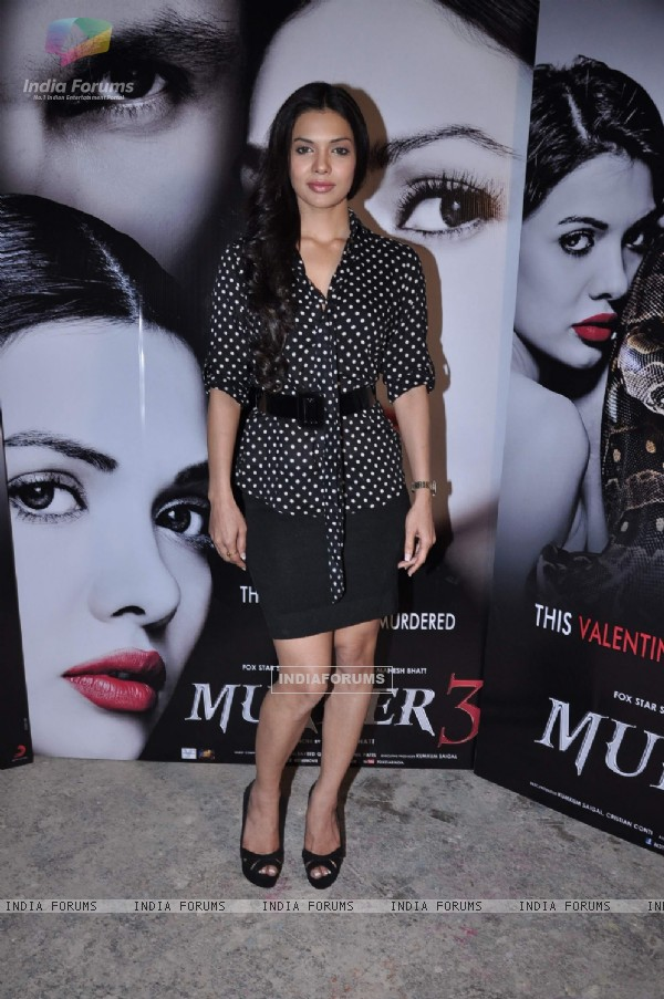 Bollywood actress Sara Loren at the press conference of upcoming film Murder 3 in Mehboob, Mumbai on Wednesday, January 30th, evening.