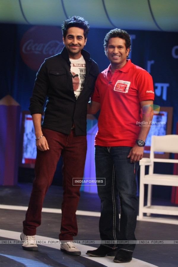 Sachin Tendulkar at Coca Cola Support My School Telethon