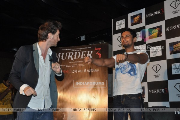 Film Murder 3 promotions with Lior Burchard