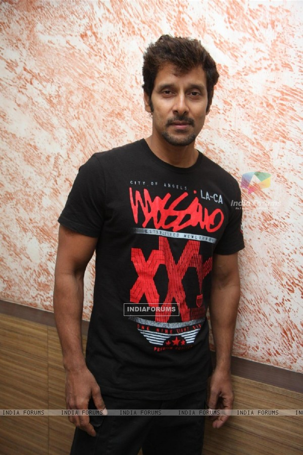 South Indian Bollywood Actor Vikram pose during the press meet of promotion of film