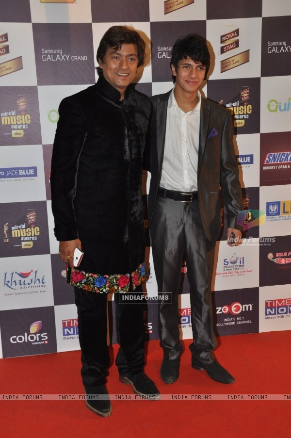 Music director Aadesh Shrivastava at the 5th Radio Mirchi Music Awards in Yash Raj Studios, Andheri, Mumbai on Thursday, February 6th, evening.