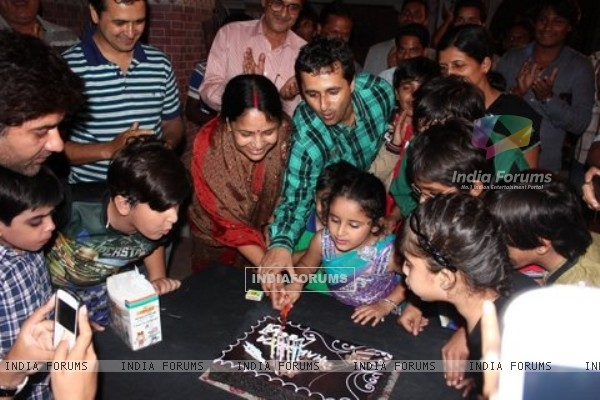 Team of Veera celebrating Veera's birthday