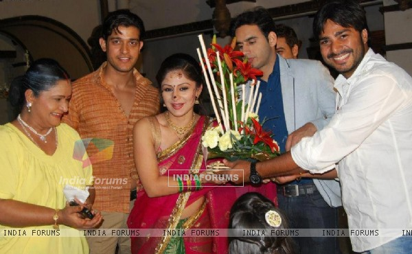 Ankita Sharma birthday on the set