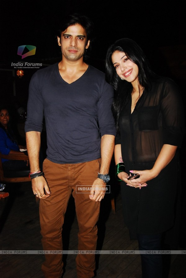 Mohit Malik and wife Aditi at Nandish Sandhu and Rashami Desai Anniversary and Birthday Party