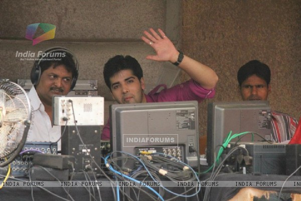 Kinshuk Mahajan on the Sets of Afsar Bitiya