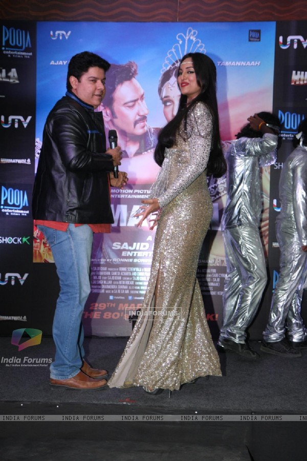 Sonakshi Sinha at launch of film Himmatwala item song Thank God Its Friday