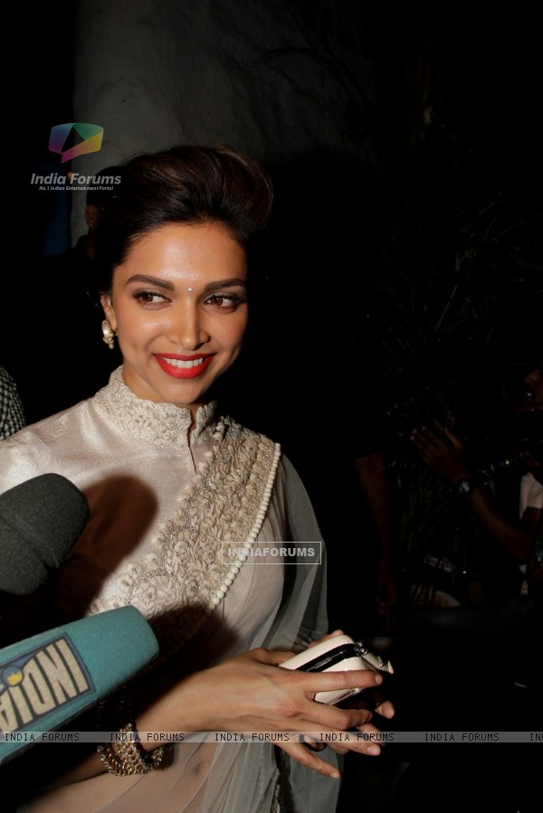 Deepika Padukone at Sanjay Leela Bhansali's Birthday party
