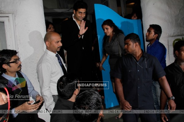 Abhishek Bachchan at Sanjay Leela Bhansali's Birthday party