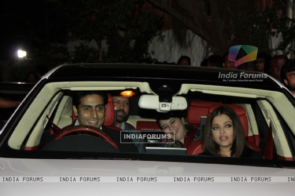 Abhishek Bachchan with wife Aishwarya Rai Bachchan at Sanjay Leela Bhansali's Birthday party