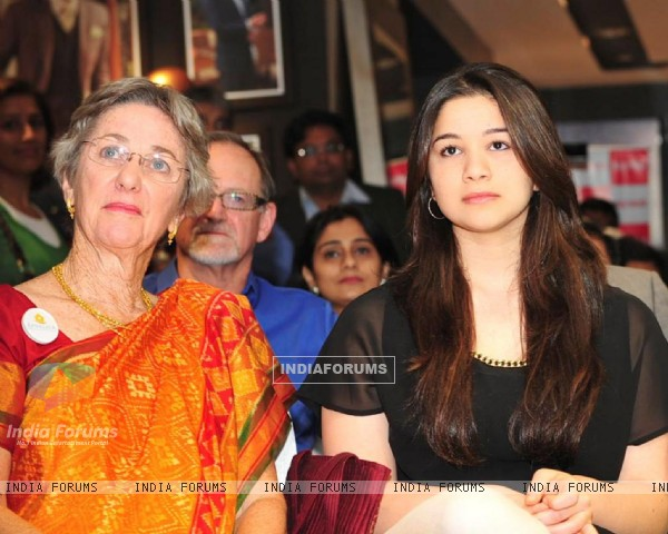 Annabel Mehta, Board member of NGO Apnalaya with grand daughter Sara Tendulkar during the 40th anniversary celebration of NGO Apnalaya in Mumbai.
