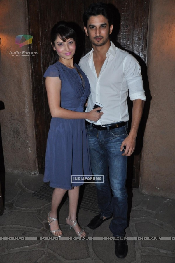 Ankita Lokhande and Sushant Singh Rajput at Success bash of 'Kai Po Che!'