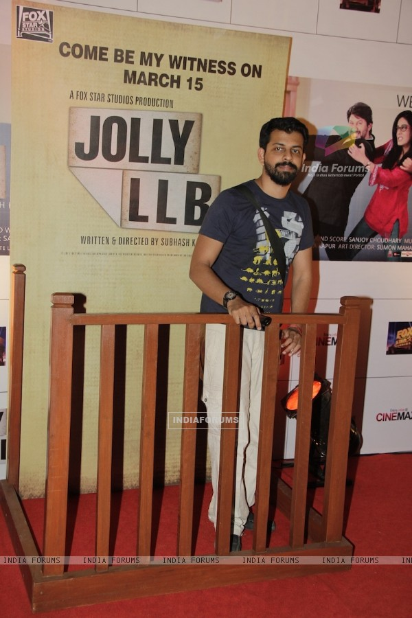 Bijoy Nambiar at Premiere of movie Jolly LLB