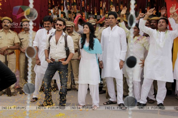 Neil Nitin Mukesh and Tena Desae during the song shoot of their upcoming film Dussehra
