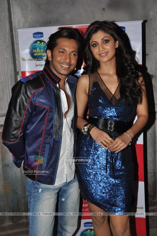 Terence Lewis and Shilpa Shetty at Nach Baliye Shriman & Shrimati