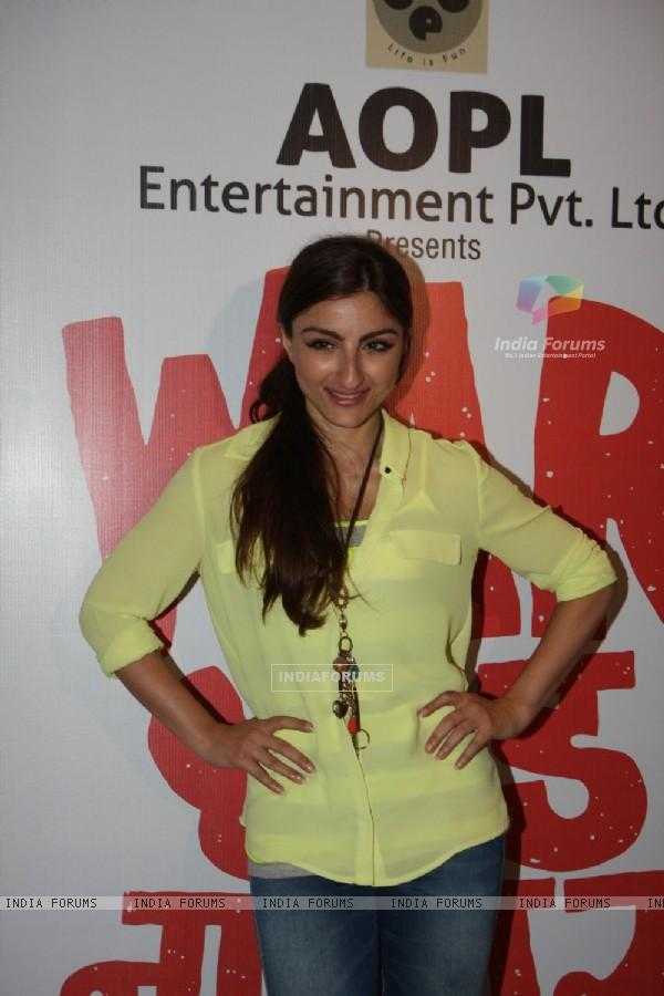 Soha Ali Khan at Film War Chodd na yaar First look