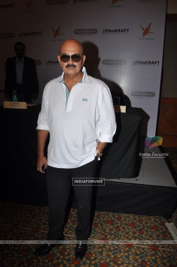 Rakesh Roshan at Turner, Film Kraft & Toonz Animation partner for Krrish television features