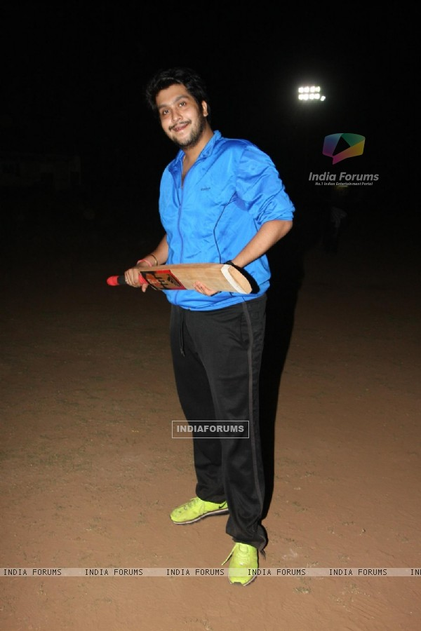 Bappa Lahiri at Singers Cricket Match