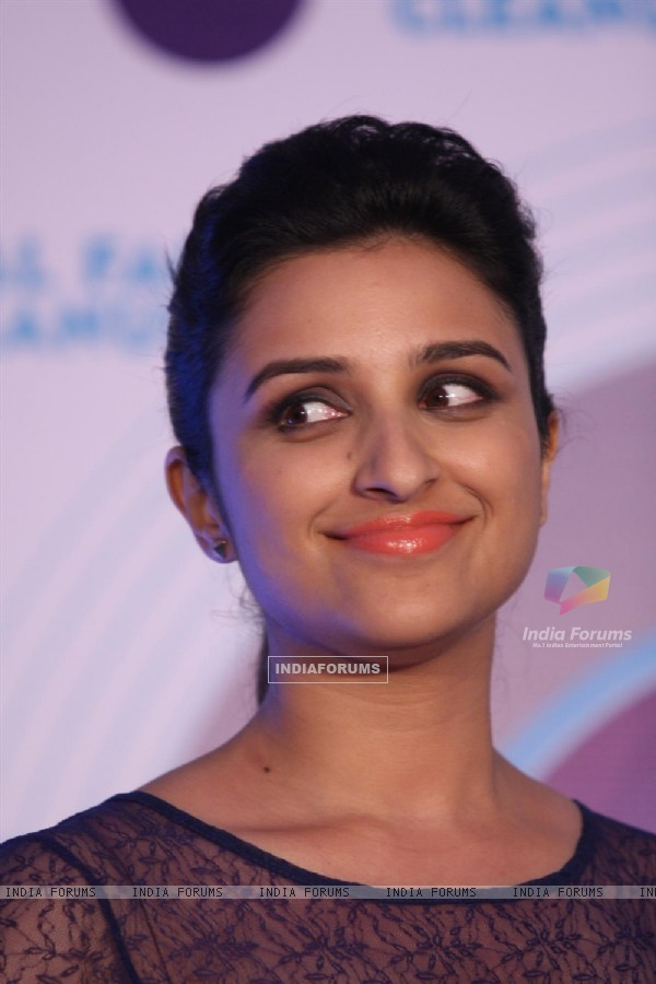 Parineeti Chopra poses during the launch of Nivea�s Total Face Cleanup