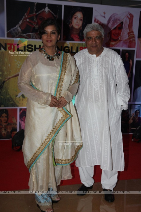 Shabana Azmi and Javed Akhtar at Sahara Pariwar Bash For Padma Shri Sridevi