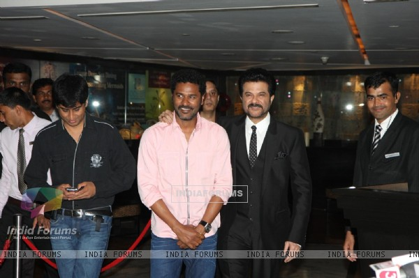 Prabhu Deva and Anil Kapoor at Sahara Pariwar Bash For Padma Shri Sridevi